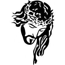 "Large Jesus Vinyl Decal Sticker For Car Truck Hood Window Religious 23"" X 15"""