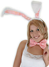 Super Tall Bunny Ears Tail & Bow Tie Adult Sexy Cute Rabbit Costume Kit