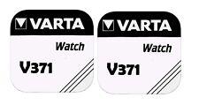 2x VARTA V 371 Knopfzellen Uhrenbatterie Knopfzelle V371 SR69 SR920SW SR920 AG6