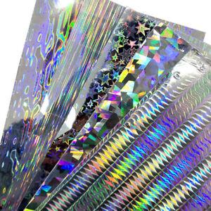 10X Reflective DIY Fishing Lure Sticker Holographic Adhesive Film Flash Tape Hot