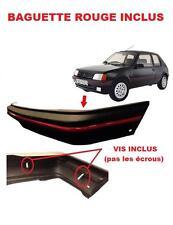 PARE-CHOC AVANT NOIR + BAGUETTE ROUGE PEUGEOT 205 PH 2 II 1.6 GTI 02/1983-09/199