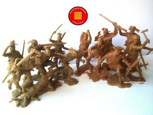 """NEW!!! """"PUBLIUS"""" - TRAPPERS-set 2 & INDIAN set 2, 12 rubber soldiers 1:32"""