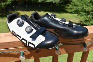 Louis Garneau Mens Carbon Compo Air Lite Bike Cycling WHITE BLACK Sz13 BinAC