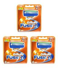 3X NEW Gillette Fusion 5 Blades Pack Of 8 Cartridges - SPECIAL OFFER