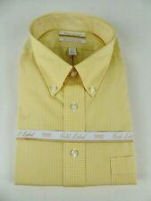 Roundtree & Yorke Gold Label Non Iron EZ NWT Gingham Plaid Cotton Dress Shirt