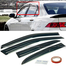 Fit 98-02 Accord 4DR Sedan Mugen Style 3D Wavy Black Tinted Window Visor Vent