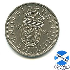 A 1964 Cupro-Nickel ELIZABETH II SCOTTISH SHILLING 1/- coin