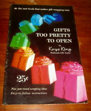 Vtg 1958 Hallmark wrapping ideas booklet Gifts Too Pretty to Open, Kaye King