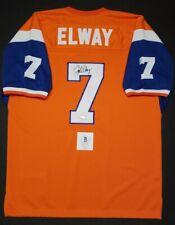 JOHN ELWAY Signed Autographed DENVER BRONCOS custom Jersey SZ XL. BECKETT