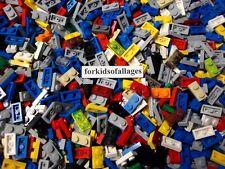 Bulk Lego 1x2 Dot PLATES 100 Piece Lot Black Gray Red Blue White Yellow Green+