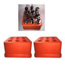 2Pcs BT40 Werkzeughalter 9 Löcher Kunststoff Fräsbohrer Organizer