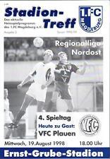 RL 1998/99 1. FC Magdeburg - VFC Plauen, 19.08.1998