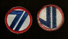 71st DIVISION ARMY PATCH WW2 ORIGINAL