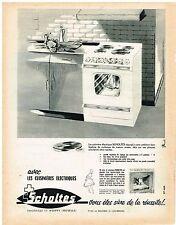 PUBLICITE ADVERTISING  1963   SCHOLTES   éléctroménager cuisisnières