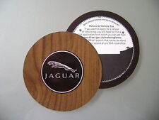 Magnetic Tax disc holder fits jaguar x-type s-type xj xk wood effect