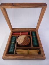 Geschenkset - Holzkästchen mit Räucherstäbchen und Halter