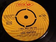 LOUIS ARMSTRONG . I WILL WAIT FOR YOU / TALK TO THE ANIMALS  . RARE 1968 NR MINT
