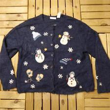 VTG Novelty Retro Ugly 80s CHRISTMAS JUMPER Sweater Festive Bad Taste XL #B0232