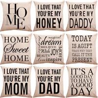 "18"" Home Pattern Cotton Linen Sofa Car Throw Cushion Cover Home Decor"