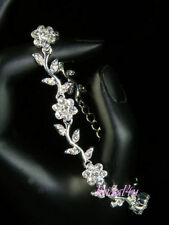 Silver Plated Crystal Lab-Created/Cultured Costume Bracelets