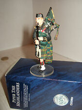 Corgi ICONO fo7191 pintado a Mano Metal Piper in The Highlanders CON SOPORTE