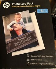 NEW HP Inkjet Printer Glossy Photo Card Picture Paper Pack