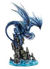 """Stunning 15"""" Ice Dragon on Rocks Statue Mythological Statue Figurine"""