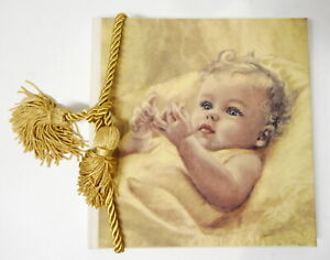 """Adorable Terra Traditions Holds 22 Baby Photo Album 5"""" x 7"""" Photos w/Gold Tassel"""