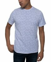 Kenneth Cole Mens T-Shirt White Blue Size 2XL Graphic Tee Star Printed $39 #200