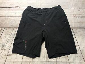 Louis Garneau Mountain Bike Gray Shorts Padded Lined Mens Size XL X-Large