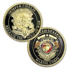 U.S.Marine Corps Devil Dog Military Challenge Coin