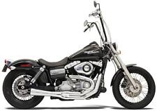 Bassani Chrome Road Rage II Mega Phone Power 2 into 1 Exhaust Pipe Harley Dyna