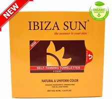 Organic Self Tanner, Sunless Tanning Wipes. 8 count