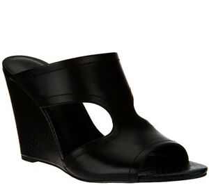 Details about  /H By Halston Womens Gene Wedge Sandal Shoes