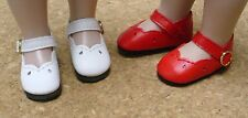 """Doll Shoes, 47mm RED Girl Dress Bitty Bethany, Ann Estelle* Patsy*10"""""""
