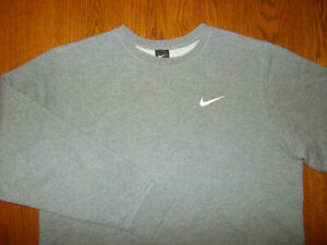 NIKE CREW NECK HEATHER GRAY SWEATSHIRT MENS XL EXCELLENT CONDITION