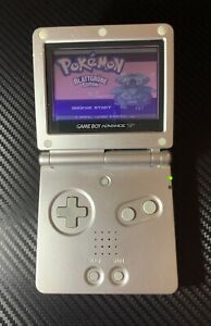 Nintendo Gameboy Advance SP Silver/ Silber - Ohne Ladekabel Nur Konsole