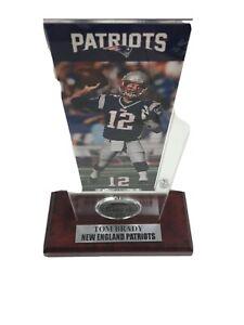 Limited Edition Tom Brady Ticket & Bronze Coin Acrylic Desk Top