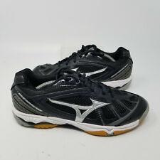 Mizuno Wave Hurricane Black Mesh Volleyball Running Tennis Shoes Women Size 7