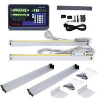 DRO 2Axis Digital Readout Linear Scale Encoder Milling Lathe Machine,DHL Free