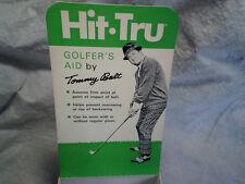 1970 TOMMY BOLT EMPTY BOX Hit Tru Golf Golfers Aid,*empty box only,professional.
