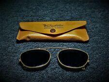 Vintage American Optical Clip on Glasses - Cabela's Case - Aviators