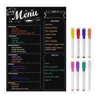 MoKo Magnetic Menu Board for Kitchen Fridge,Dry Erase List Notepad Chalkboard