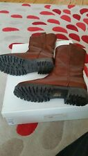 Daniel Sherla Tan Leather Calf Length Boots Ladies Size 3