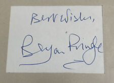 Actor Bryan Pringle Signed Card