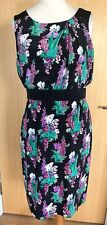 Laura Ashley Occasion Dress 14 100% Silk Floral Party Races Holiday Evening