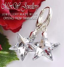 925 Sterling Silver Earrings STAR - Crystal CAL 20mm Crystals from Swarovski®