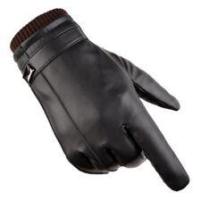 Nappaleder Damen Handschuhe Lederhandschuhe mit Druckknopf gefüttert  S M L Bekleidung