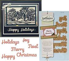 Holiday Sentiments metal die Spellbinder Dies S2118 noel joy merry Christmas