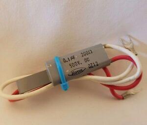 Marcon 0.1uf 200 Ohm 0.1 uF 0.1MFD 500VDC Capacitor Suppressor 500V DC 2 LEAD